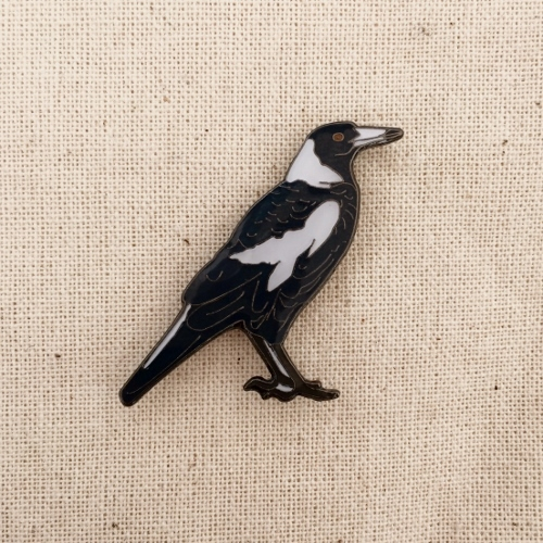 Australian Magpie Pin Badge
