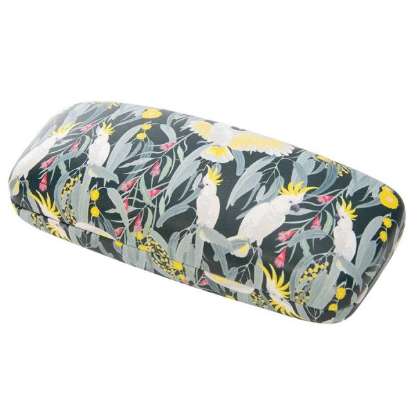 Glasses case with Sulphur-crested Cockatoos